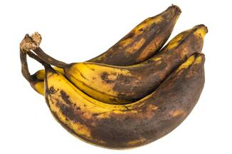 Example of retail food waste - over ripe bananas