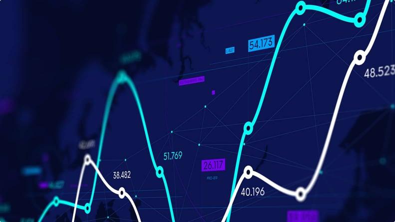 Line graph displaying financial data