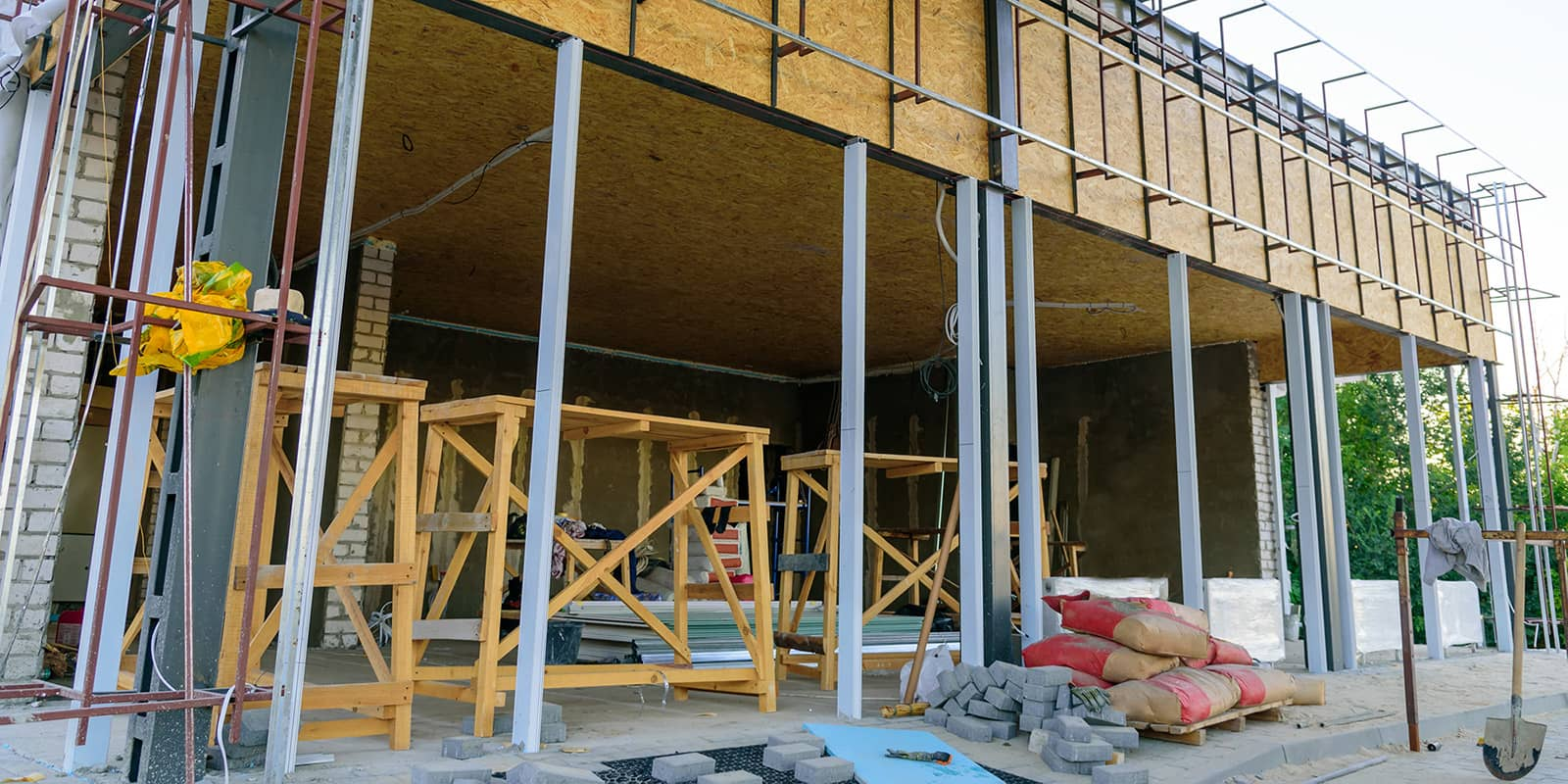 Grocery store being remodelled under construction